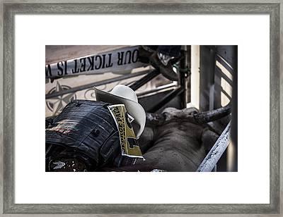 Cowboy Up Framed Print by Amber Kresge