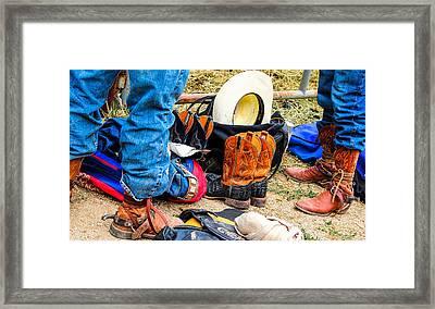 Cowboy Up Hot Thing. Framed Print by Miki  Finn