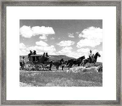 Cowboy Wagon Ride Framed Print