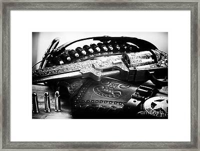 Cowboy Way Framed Print by John Rizzuto