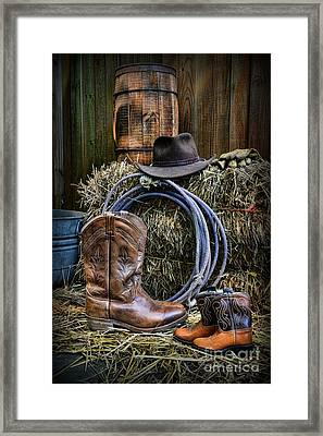 Cowboy - When I Grow Up Framed Print by Paul Ward