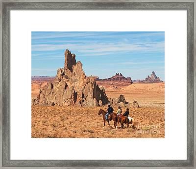 Cowboys Framed Print by Bob and Nancy Kendrick