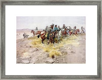 Cowboys Framed Print by Charles Russell