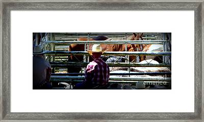Framed Print featuring the photograph Cowboys Corral by Susan Garren