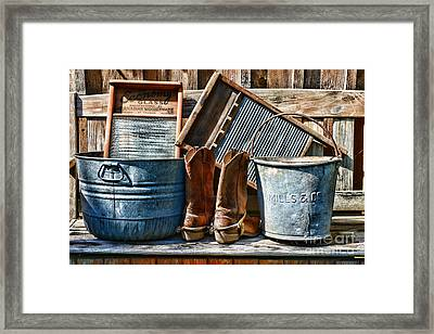 Cowboys Have Laundry Too Framed Print
