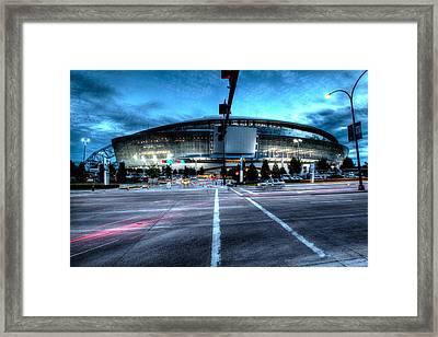 Cowboys Stadium Pregame Framed Print