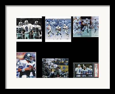 The Three Players That Made The Cowboys A Dynasty In 1990s Era Football Framed Prints