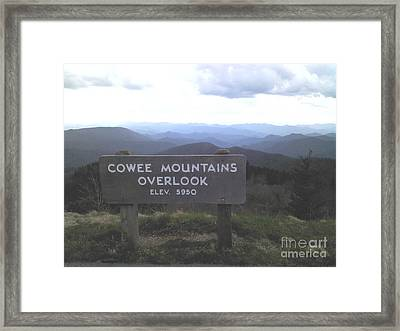 Cowee Mountains Overlook  Framed Print