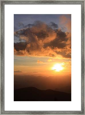 Cowee Mountains Sunset - Blue Ridge Parkway Framed Print