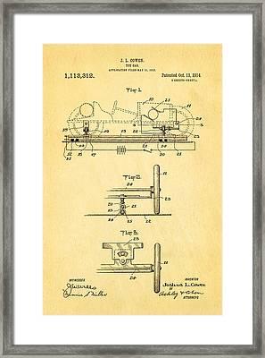Cowen Toy Car Patent Art 1913 Framed Print by Ian Monk