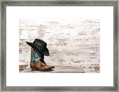 Cowgirl Boots Framed Print by Olivier Le Queinec