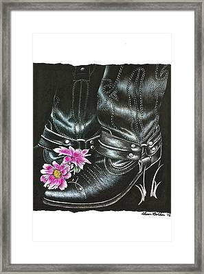 Cowgirl Boots Framed Print by Sheena Pape