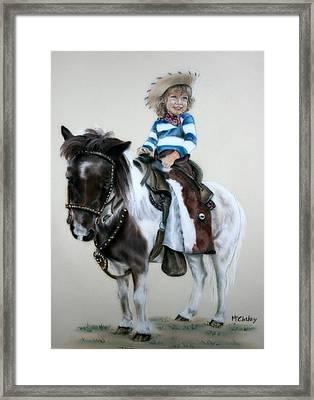 Cowgirl Dee Framed Print by Dee Mccluskey