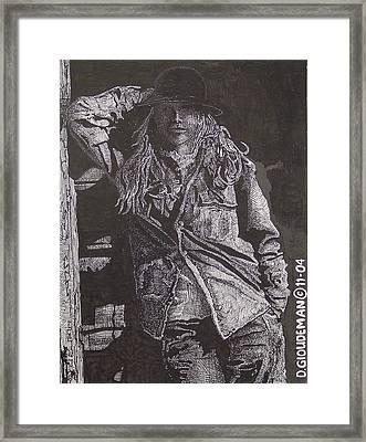 Cowgirl Framed Print by Denis Gloudeman
