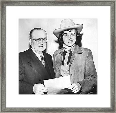 Cowgirl Dianne Feinstein Framed Print