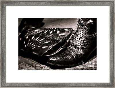Cowgirl Gator Boots Framed Print