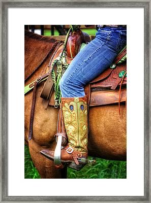 Cowgirl Framed Print