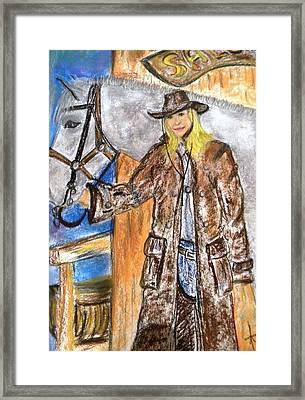 Cowgirl Framed Print by Igor Kotnik