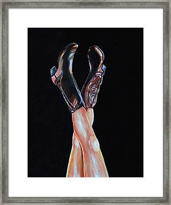 Framed Print featuring the painting Cowgirl Legs by Jennifer Godshalk