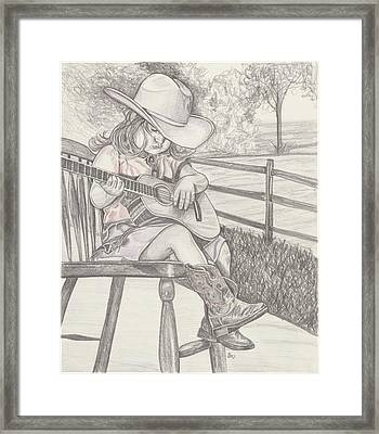 Cowgirl Melody Framed Print