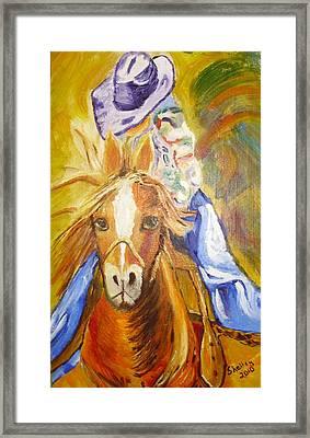 Cowgirl Framed Print by Shelley Bain