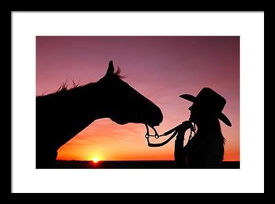 Cowgirl Framed Prints