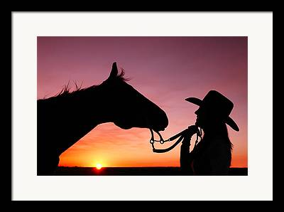 Cowgirl Framed Prints