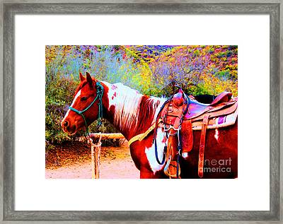 Cowgirl Up Framed Print