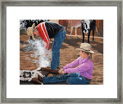 Cowgirls Do It Too Framed Print