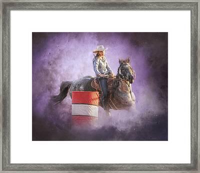 Cowgirls Dream Framed Print by Ron  McGinnis