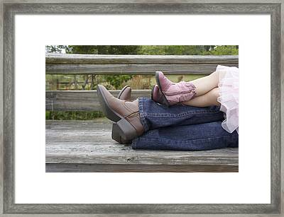 Framed Print featuring the photograph Cowgirls by Laurie Perry