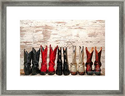 Cowgirls Night Out Framed Print by Olivier Le Queinec