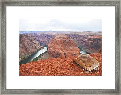 Cowgirl's Trails End Framed Print by Kate Sumners
