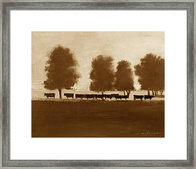 Cowherd Framed Print