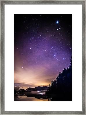 Cowichan Lake Framed Print by Deryk Baumgaertner