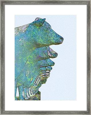 Cows In Order Framed Print