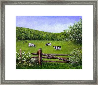 Cows In The Pasture Framed Print