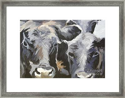 Cows In Waiting Framed Print by Katrina West