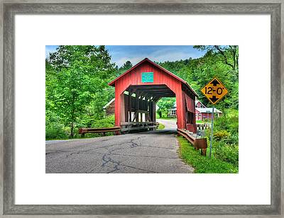 Cox Brook Bridge Framed Print