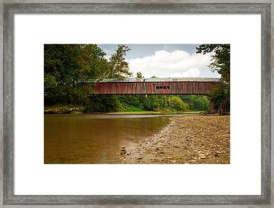 Cox Covered Bridge Framed Print by Jackie Novak