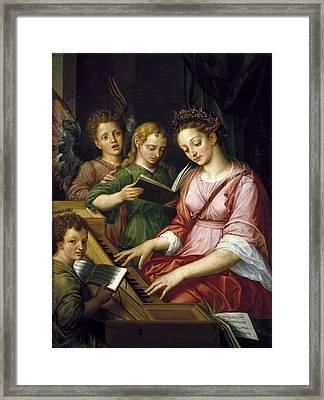 Coxcie, Michel 1499-1592. Saint Framed Print by Everett