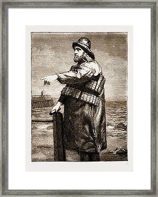 Coxswain Robert Hook Of The Lowestoft Lifeboat Samuel Framed Print by Litz Collection
