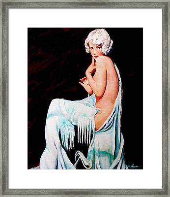 Coy Framed Print by Michael Durst