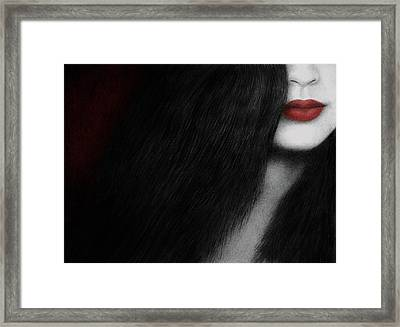 Framed Print featuring the painting Coy by Pat Erickson