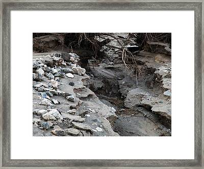 Framed Print featuring the sculpture Coyote Alley by Dan Redmon