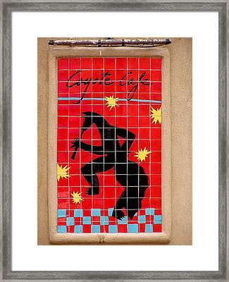 Coyote Cafe Framed Print