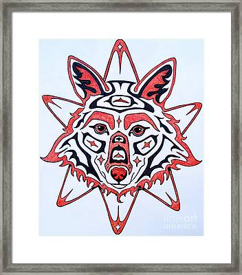 Coyote Sun Framed Print by Joey Nash