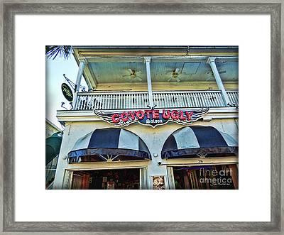 Coyote Ugly Key West Framed Print by Joan  Minchak