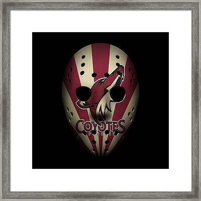 Coyotes Goalie Mask Framed Print