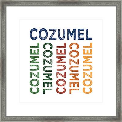 Cozumel Cute Colorful Framed Print